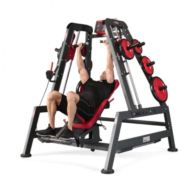 Двойное положение тренировки: жим на наклонной, жим на плечах